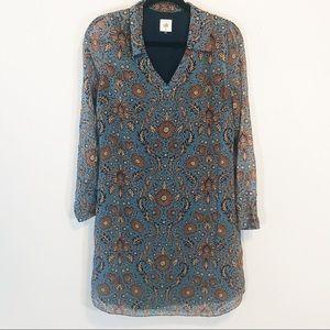 CAbi tunic dress fall colors size m